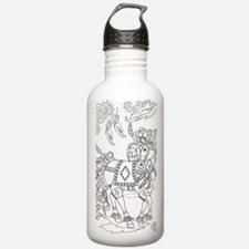 Prancing Feather Horse Design Water Bottle