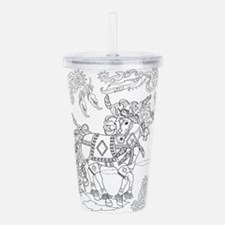 Prancing Feather Horse Acrylic Double-Wall Tumbler
