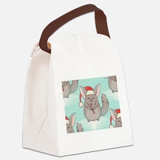 christmas chinchillas Canvas Lunch Bag