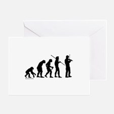Violin Evolution Greeting Cards