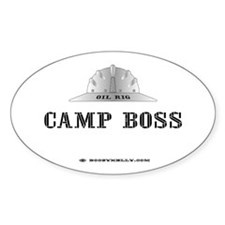 Camp Boss Oval Bumper Stickers
