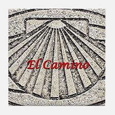 El Camino shell, pavement, Spain (cap Tile Coaster