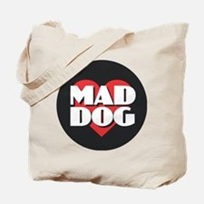 MAD DOG - Red Heart Tote Bag