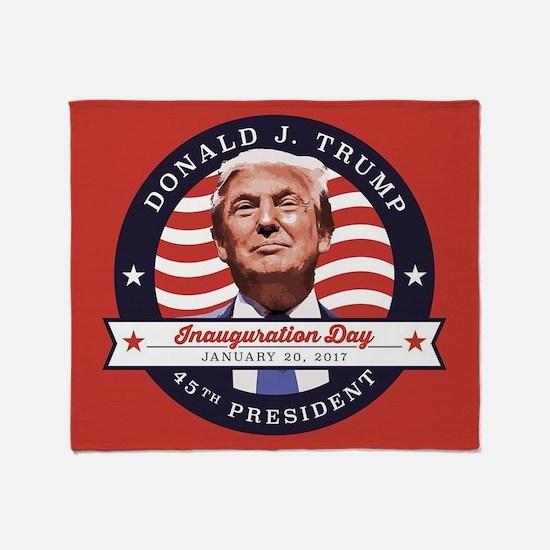 President Trump - Inauguration Day Throw Blanket