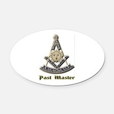 A F & A M Past Master Oval Car Magnet