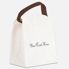 Your Text in Script Canvas Lunch Bag