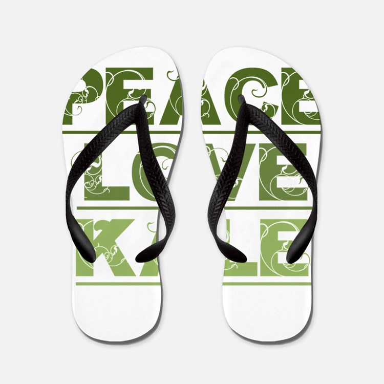 Peace Love Kale Flip Flops