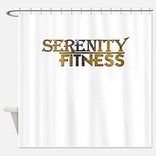 Serenity Fitness Logo 1010 Shower Curtain