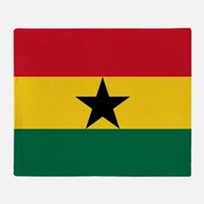 Flag Of Ghana Throw Blanket