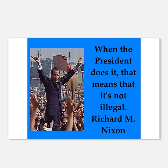Richrd nixon quotes Postcards (Package of 8)
