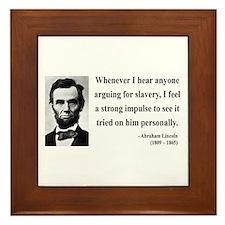 Abraham Lincoln 22 Framed Tile