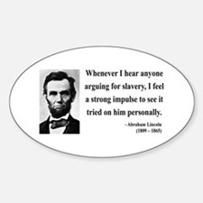Abraham Lincoln 22 Oval Decal