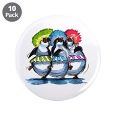 "Unique March penquins 3.5"" Button (10 pack)"