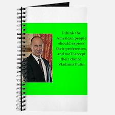 Vladiir Putin Quote Journal