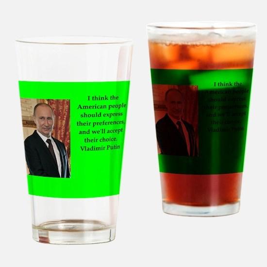 Vladiir Putin Quote Drinking Glass