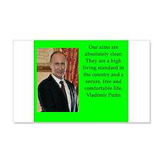 Vladiir Putin Quote Wall Decal