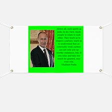 Vladiir Putin Quote Banner