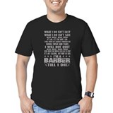 Barber Fitted Dark T-Shirts