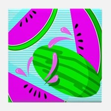 Funny Watermelon lovers Tile Coaster