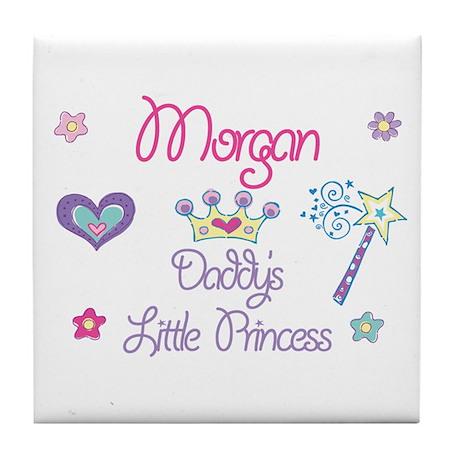 Morgan - Daddy's Little Princ Tile Coaster