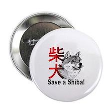 "Midwest Shiba Inu Rescue 2.25"" Button"