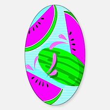 Cute Watermelon lovers Sticker (Oval)