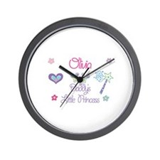 Olivia - Daddy's Little Princ Wall Clock