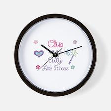 Olivia - Daddy's Little Princ Wall Clock