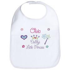 Olivia - Daddy's Little Princ Bib