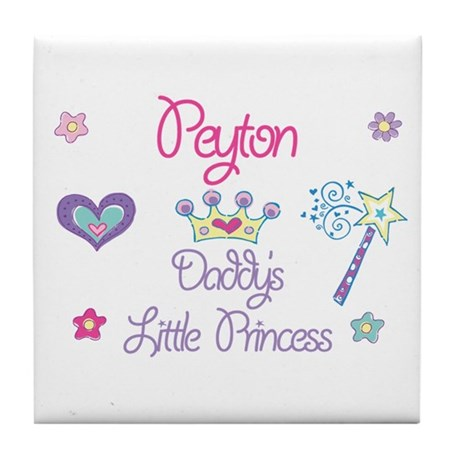 Peyton - Daddy's Little Princ Tile Coaster