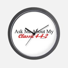 """""""Ask About My 4-4-2"""" Wall Clock"""