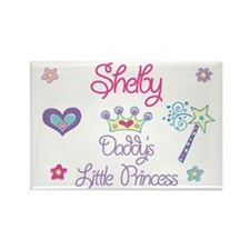 Shelby - Daddy's Little Princ Rectangle Magnet