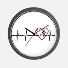 i love hurdling Wall Clock