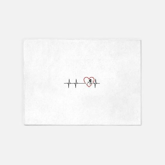 i love hurdling 5'x7'Area Rug