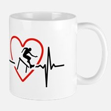 i love hurdling Mugs