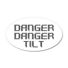 Danger Danger Tilt Pinball Wall Decal