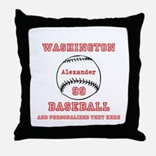 Baseball Personalized Throw Pillow