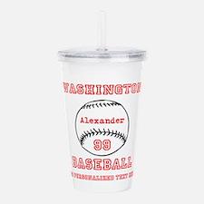Baseball Personalized Acrylic Double-wall Tumbler