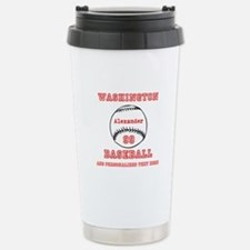 Baseball Personalized Travel Mug