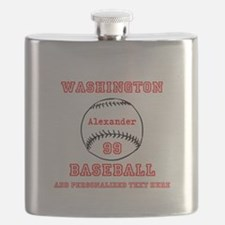 Baseball Personalized Flask