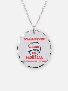 Baseball Personalized Necklace