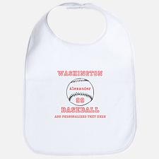 Baseball Personalized Baby Bib