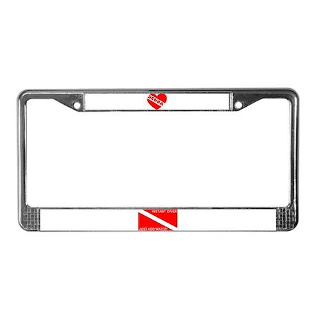 Instant Diver License Plate Frame