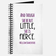 Shakespeare Fierce Quote Journal