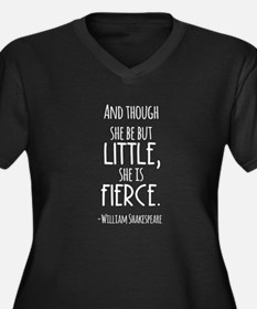 Shakespeare Fierce Quote Plus Size T-Shirt