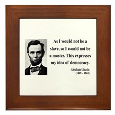Abraham Lincoln 23 Framed Tile
