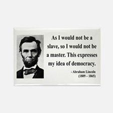 Abraham Lincoln 23 Rectangle Magnet