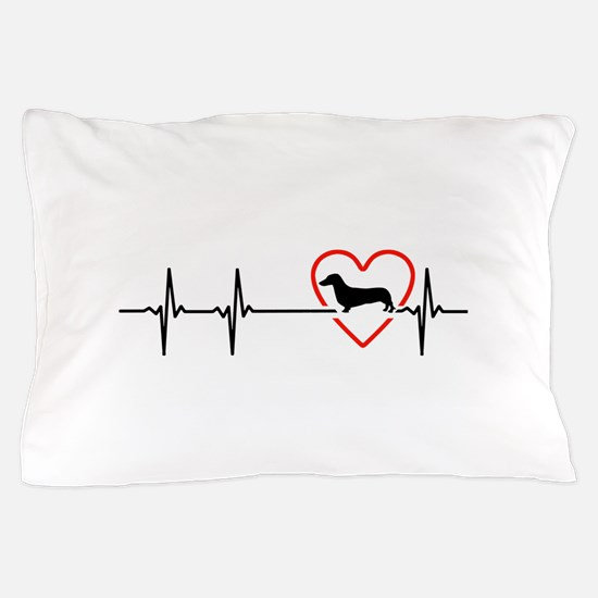 i love Dachshund Pillow Case