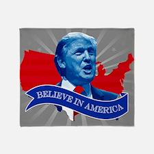Trump Believe In America Throw Blanket
