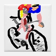 Cyclist Tile Coaster